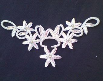 3) Silver Sequin Applique
