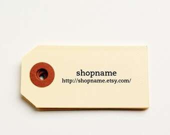 Custom Promo Shop Cards/Tags - (50)
