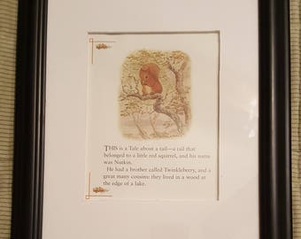 A Tale About a Tail - The Tale of Squirrel Nutkin by Beatrix Potter - Aproximaitely 5 1/2 x 7 1/2 inches