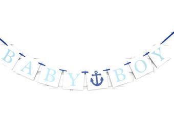 Baby Boy Banner, Its A Boy, Baby Shower Banner, Nautical baby shower, boy Baby banner, baby shower, baby shower decorations, boy baby shower