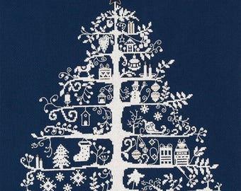 DMC BKJPBK557N Christmas Tree Blue Counted Cross Stitch Kit