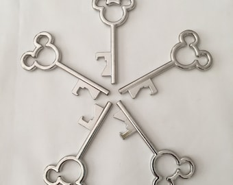 Set of 5- Mickey Mouse Skeleton Key Bottle Openers - FE Gifts - Party Favor