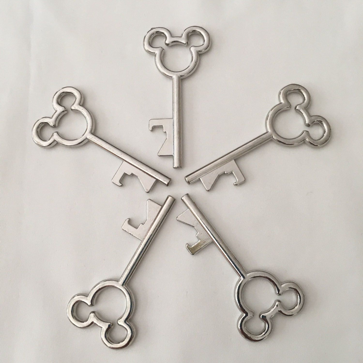 Set of 5 Mickey Mouse Skeleton Key Bottle Openers FE Gifts