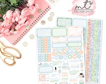 Home Sweet Home Mini Kit || Horizontal || 80+ Planner Stickers || Erin Condren Life Planner
