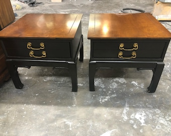 Pair of Ming Style End Tables - Ready for Custom Lacquer
