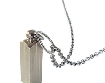 Secret Capsule Stainless Steel Necklace - Capsule Container Pendant  Secret Stash, Cremation Jewelry 2137F