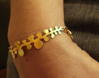 small willow branch bracelet in gold