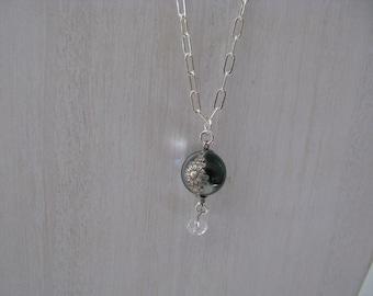 Pools of Light Dangling Rock Crystal Sterling Necklace