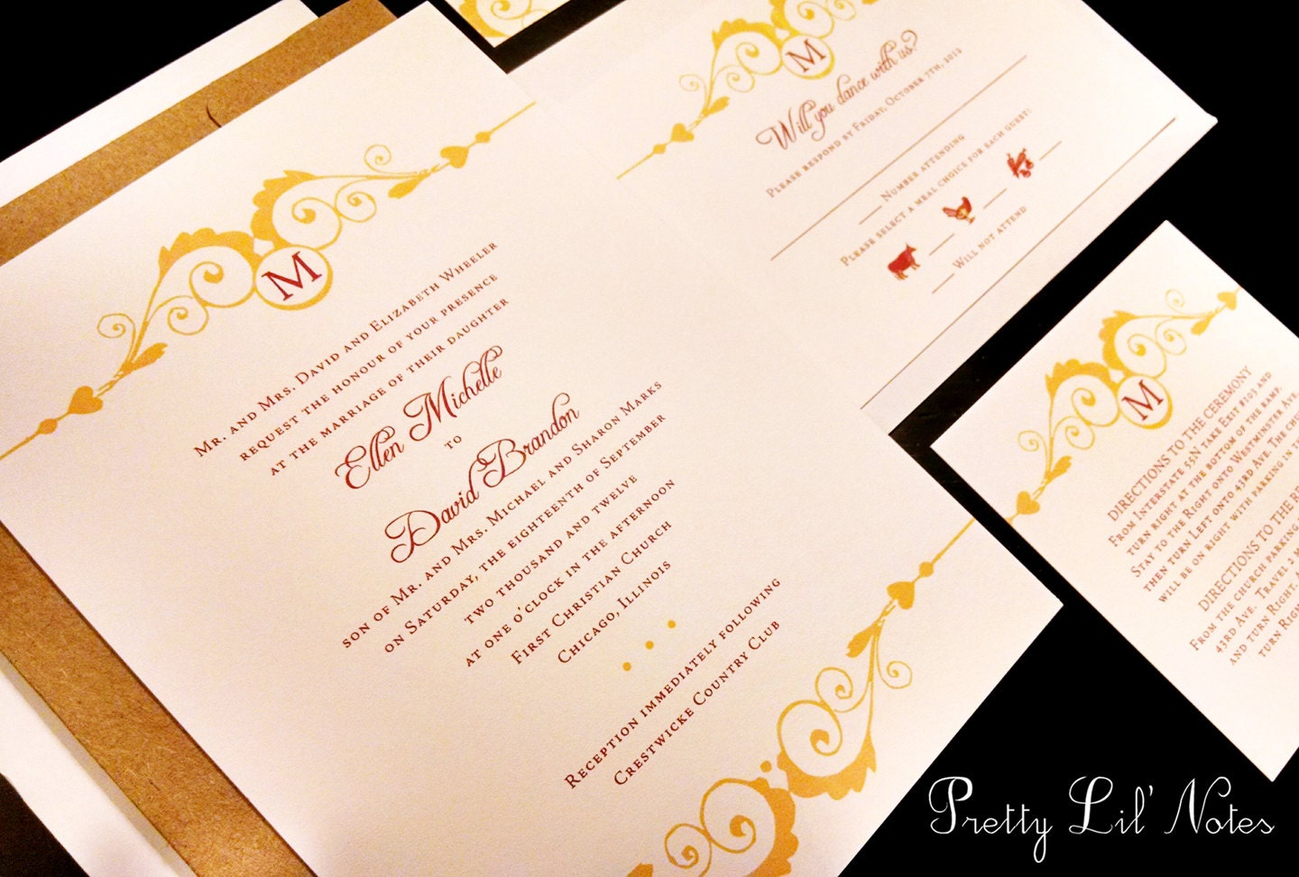 Elegant Monogram Wedding Invitations: Monogram Flourish Elegant Custom Unique Wedding Invitation
