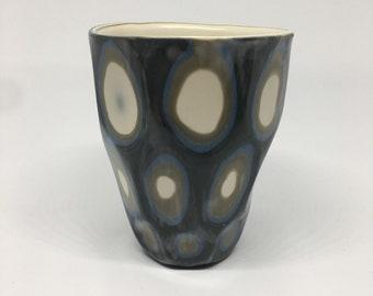 Porcelain carved cup
