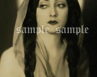 VINTAGE photo DIGITAL DOWNLOAD Beautiful Woman Gypsy Princess Art Printable Antique Photograph Victorian Woman Bohemian Boho