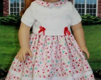 American Girl Style 1950s Jacket Dress in Pink Floral