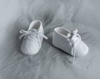 baby boy baptism shoes in white or ivory color White Baby Shoes, Baby Boy Christening Shoes, Baby Booties, Faux Leather Baby Crib Shoes