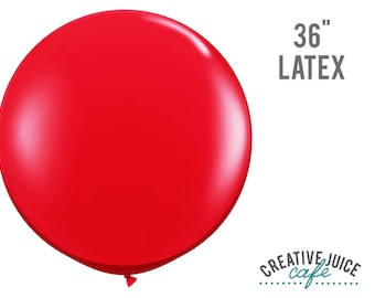 "36"" RED giant latex balloon - Perfect for weddings, birthdays, photography props"