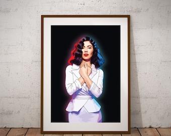 Marina Diamandis illustration Poster - Marina and The Diamonds