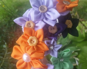 Loose Flowers, DIY Bouquet, Fabric Flowers, Star Flowers, Rustic Flowers, Wedding Flowers, Boutonniere Flowers, DIY Wedding, Wedding Decor