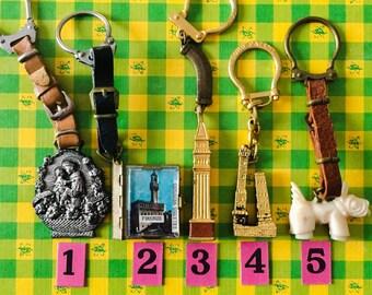 1pc VINTAGE ITALY SOUVENIR Key Chains Pick Your Own