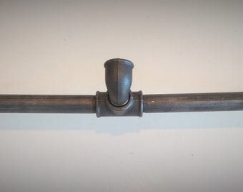 Door - coats in pipes of cast iron - model 3 curved hooks