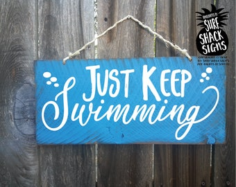 just keep swimming, just keep swimming sign, dory decoration, finding nemo, finding dory, finding nemo decoration, finding dory gift, 330