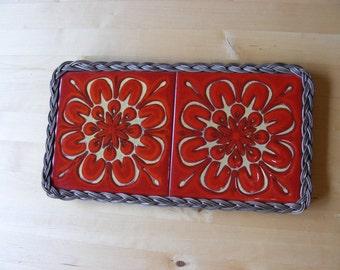 double ceramic tile trivet