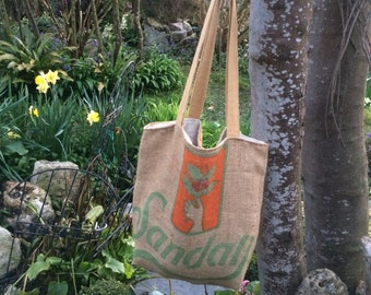 Coffee Sack bag, Tote bag, market bag,