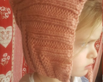 fashion knit Pixie baby bonnet