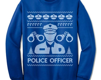 Police Officer Christmas Ugly Sweater. Police Department Christmas Sweater. Gift. Ugly Sweater. Tacky. Jumper. Ugly. Pullover.