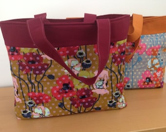 Colourful quilted totes