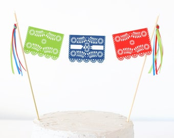 Mexican Fiesta Birthday Party - Taco Party Decorations - Fiesta Banner - Mexican Cake Topper - Fiesta Decorations - Mexican Birthday Banner