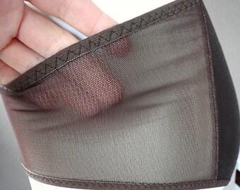 Sheer panties, organic cotton underwear, see through hipster panties, handmade lingerie, more colors