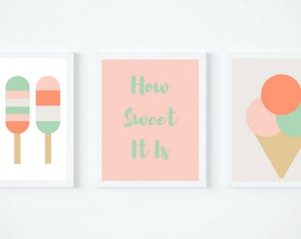 Summer Popsicle Trio Printable Wall Art