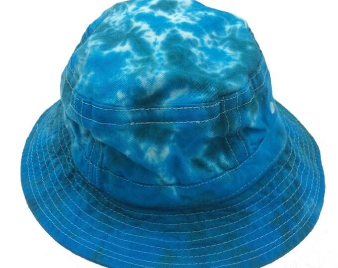 Tie Dye Bucket Hat - Turquoise Aqua