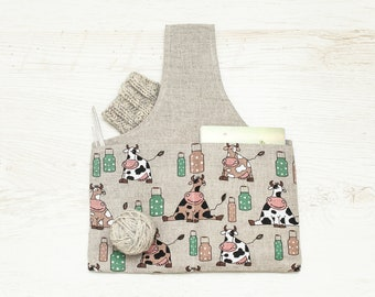 Knitter Project Bag SHEEP. Special KnitterBag design. Knitting pouch. Sock knitting.