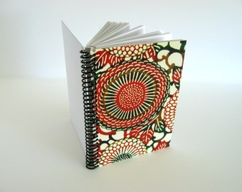 Chrysanthemum A6 Notebook Spiral Bound - Writing Journal Diary, Pocket Blank Sketchbook, Back to School, Gifts Under 20, Japanese Flower