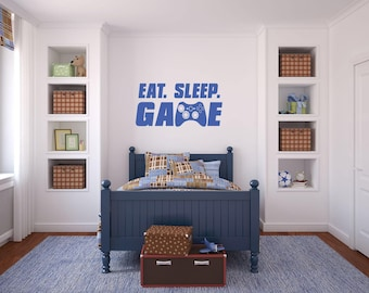 Eat Sleep Game/Gamers Wall Decal/Video Game decal