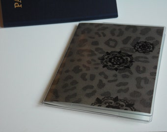 Plastic Passport Cover, Brown Cheetah, Passport  Sleeve, Case, Holder