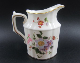 Vintage Royal Crown Derby China, Small Creamer Posie-Ely-Chelsea, English Bone China