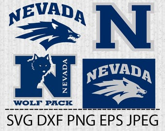 SVG Nevada Wolf Pack Logo Vector Layered Cut File Silhouette Cameo Cricut Design Template Stencil Vinyl Decal Tshirt Transfer Iron on