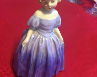 Royal Doulton Marie figurine in blue