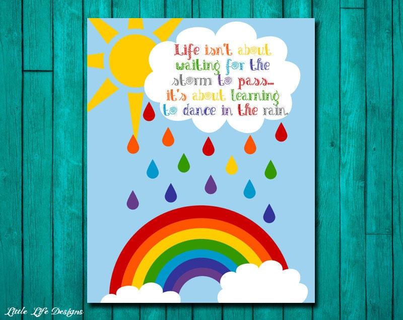 Rainbow Party Decor. Rainbow Sign. Dance in the rain. Rainbow