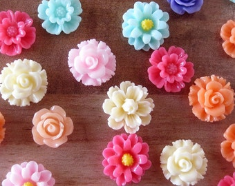 Flower Magnets, Office Supplies, Kitchen Decor, Refrigerator Magnets, Floral Decorations, Desk Accessories, Gift for Her, Mother's Day