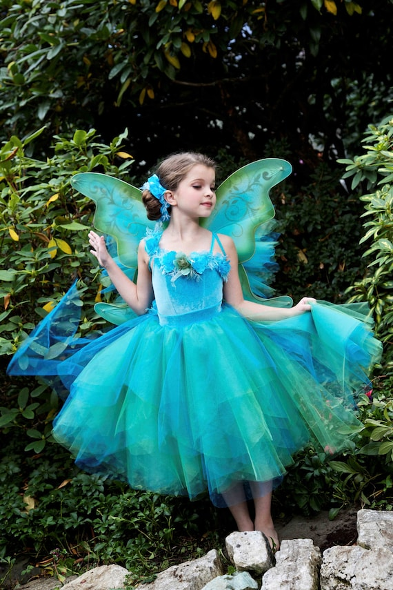 Items similar to Silvermist Fairy Tutu Dress Costume Tinkerbell and ...