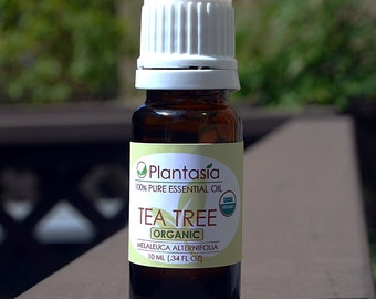 TeaTree Certified Organic Essential Oil 100% Pure Natural Therapeutic Grade from Australia by Planet Plantasia