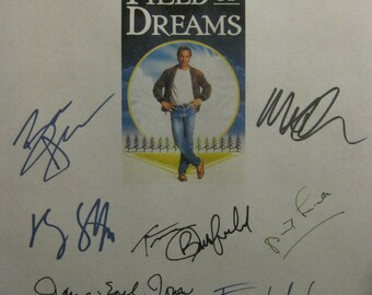 Field of Dreams Signed Film Movie Screenplay Script x12 Autograph Kevin Costner Amy Madigan James Earl Jones Burt Lancaster Ed Harris