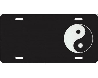 Offset Yin and Yang Photo License Plate - LPO1722