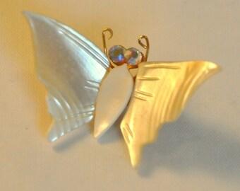 Vintage MOP Butterfly Brooch - Enchanting