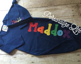 Rainbow Baby Coming Home Outfit, Rainbow Baby Gown Set, Coming Home Outfit