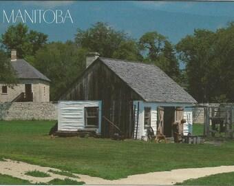 Vintage 1990s Postcard Winnipeg Manitoba MB Canada Lower Fort Garry Historic Site Blacksmith Shop Architecture Photochrome Postally Unused