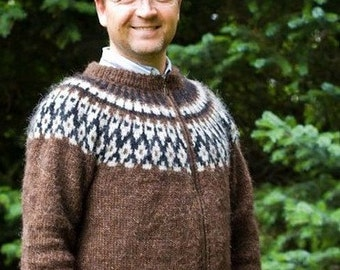 Handknitted  sweater from Icelandic wool