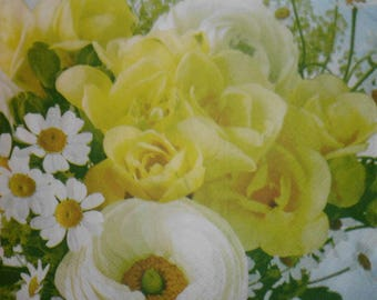 060 flower napkin
